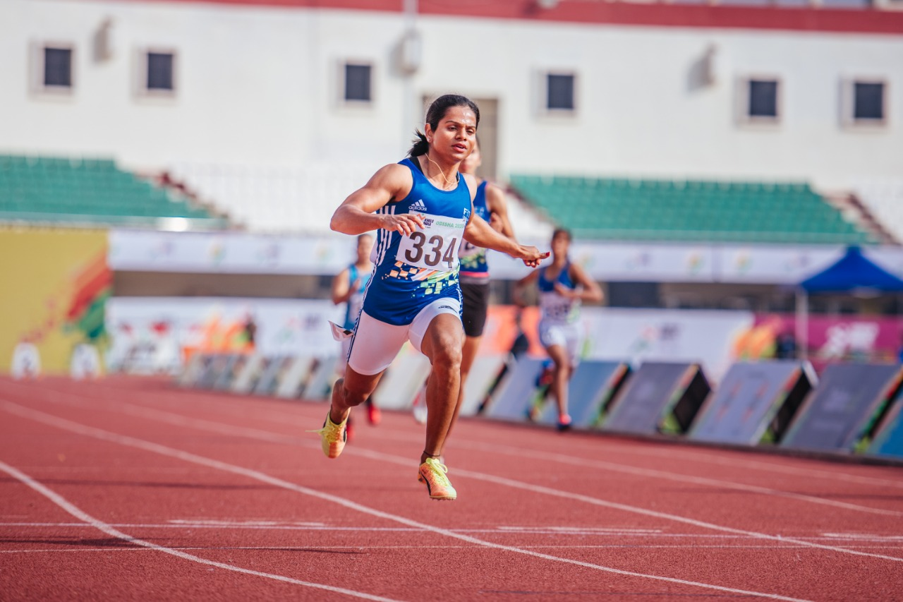 Dutee Chand sprints away with a new Indian Universities meet record- 29022020